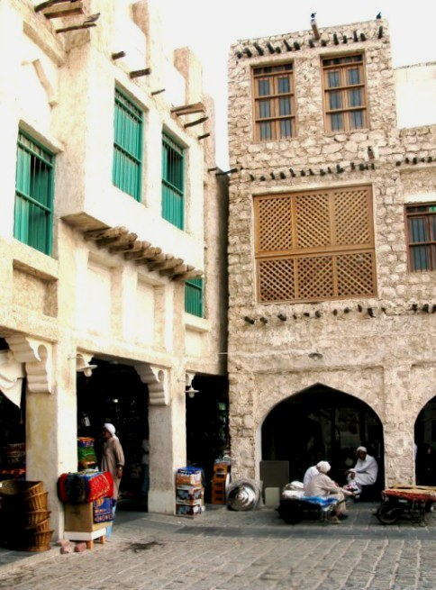 Qatar Doha Old Souk corner entrance
