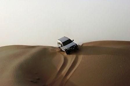 Abu Dhabi Desert Dune bashing dune top