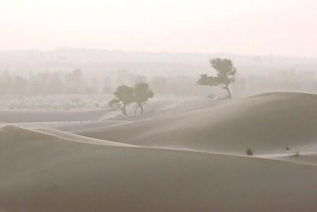 Abu Dhabi Desert dust haze