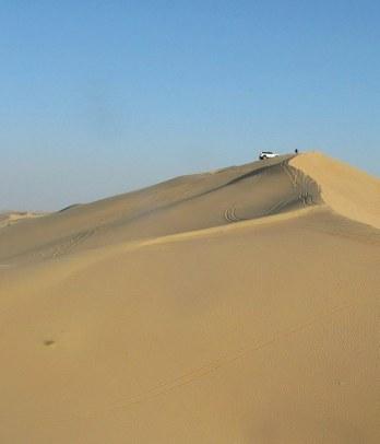 Abu Dhabi Desert dune bashing high dune