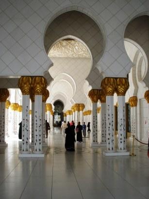 Abu Dhabi Grand Mosque arch colonnades