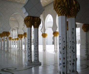 Abu Dhabi Grand Mosque courtyard colonnade