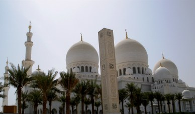 Abu Dhabi Grand Mosque domes and sound towers