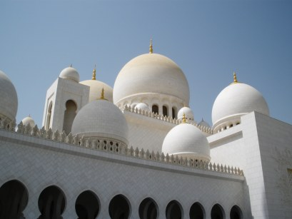 Abu Dhabi Grand Mosque marble-faced domes