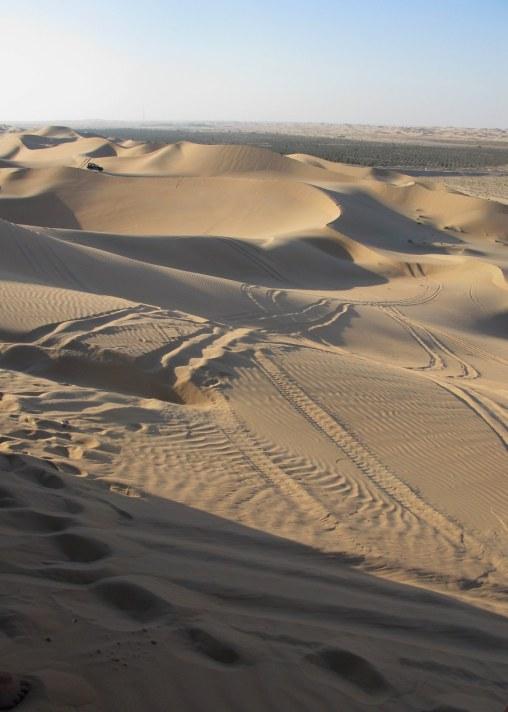 Abu Dhabi Desert stretching away