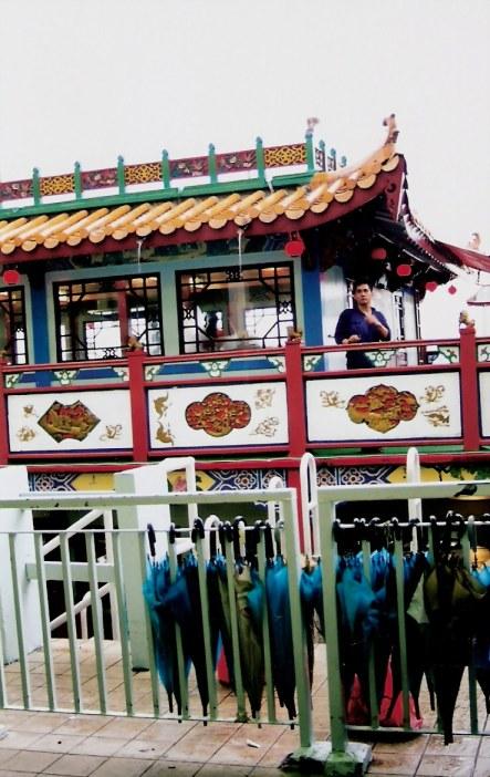 Admiral Cheng Ho Cruise Ship and umbrellas