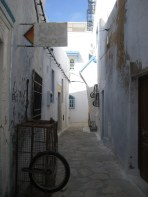 Alleyway in old town of Hammamet, Tunisia