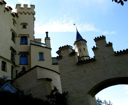 Arch of Hohenschwangau Castle in Bavaria