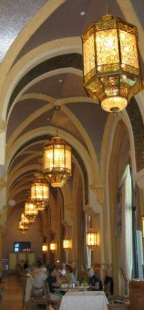Arched restaurant colonnade Emirates Palace Hotel Abu Dhabi