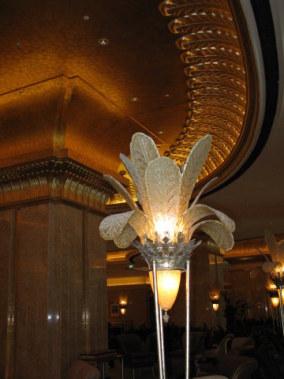 Art deco lamp and lighting of the Emirates Palace Hotel Abu Dhabi
