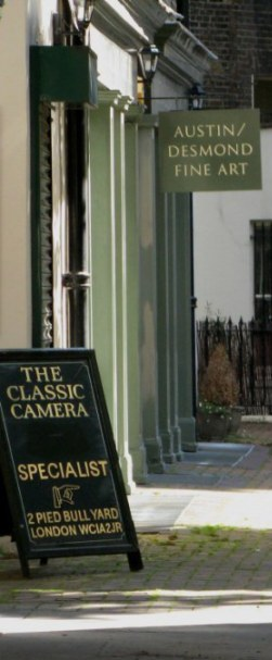 Art Gallery & classic camera shop in Bloomsbury London