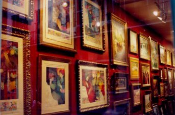 Art gallery in the French Quarter New Orleans