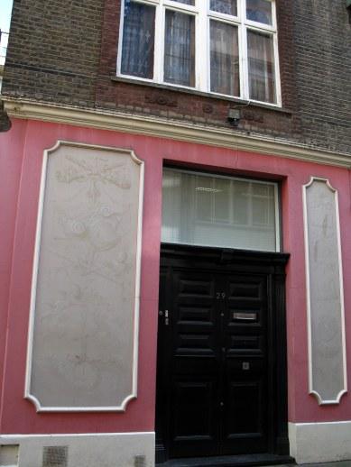 Artistic entrance decoration Bloomsbury London