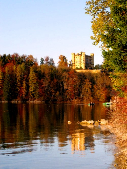 Autumn colours of Alpsee below Hohenschwangau Castle