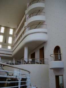 Balconies of Kathargo hotel in Hammamet Tunisia
