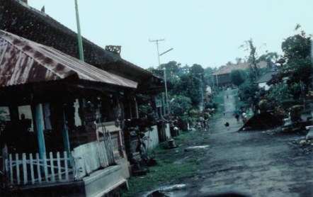Bali mountain village street
