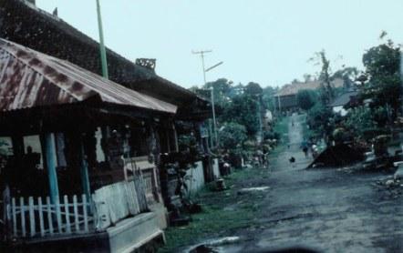 Bali mountain village street