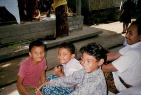 Bali village boys