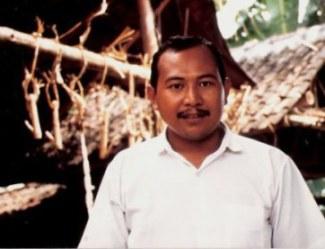 Bamboo hooks for pork in Bali