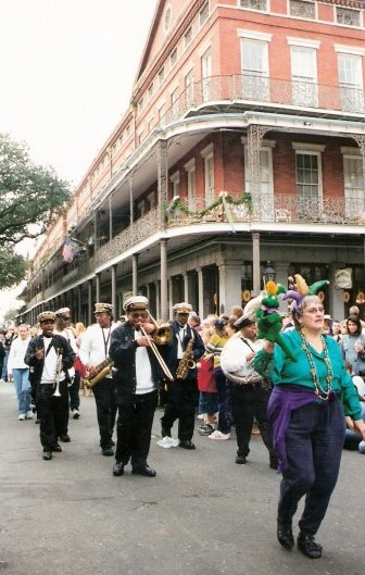 Band at Krewe of Barkus Parade New Orleans
