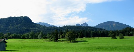 Bavarian countryside en route to Neuschwanstein