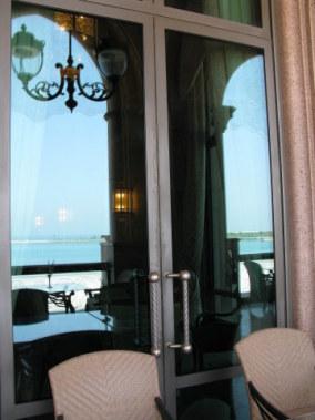 Beach outlook reflections Emirates Palace Hotel Abu Dhabi