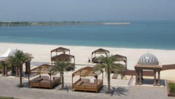 Beach terrace of  Emirates Palace Hotel Abu Dhabi