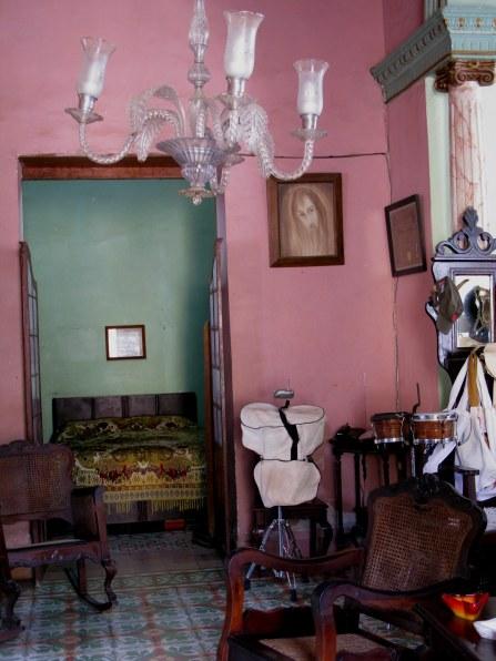 Bedroom off shop of Trinidad de Cuba