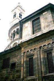 Bergamo Alta barred church windows