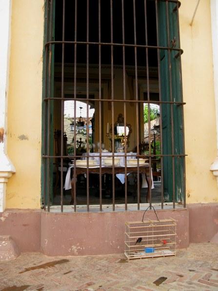Bird cage outside shop Trinidad de Cuba