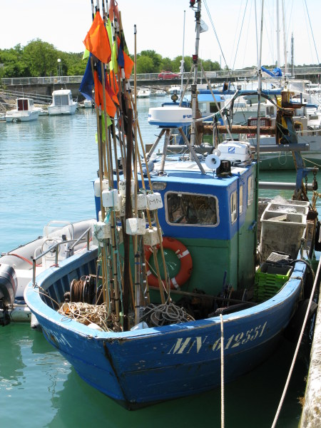 Boyardville Île d'Oléron fishing boat with flags