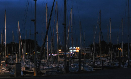 Boyardville Île d'Oléron marina at night