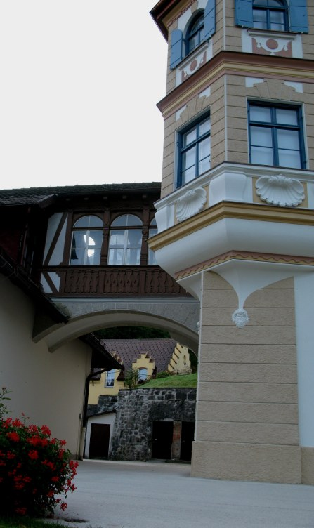 Building features and arch Hohenschwangau Bavaria