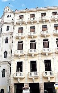 Building restoration in Havana