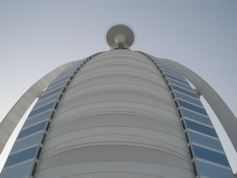 Burj Al Arab Dubai helipad from underneath