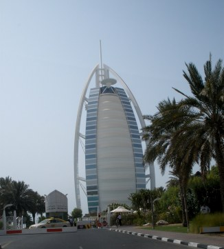 Burj Al Arab Dubai entrance checkpoint
