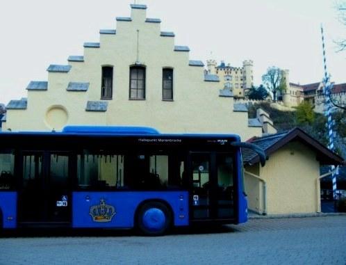 Bus to Marienbrücke Neuschwanstein Castle Bavaria
