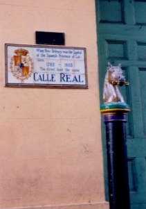 Calle Real in the French Quarter New Orleans