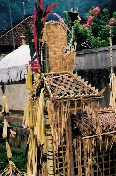 Ceremonial shrine Village of White Herons in Bali