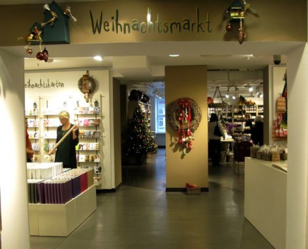 Christmas market at  Dallmayr store Munich