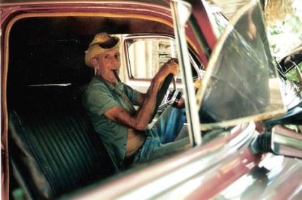 Cigar maker in Classic Chevrolet - Viñales valley – Cuba
