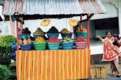 Colourful wayside stall in Bali