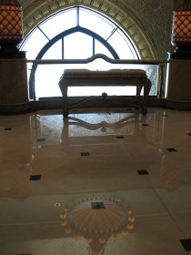 Contemplative corner reflections - Emirates Palace Hotel Abu Dhabi