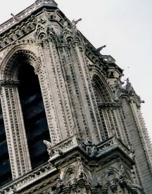 Detail of Tower Notre Dame Cathedral Paris