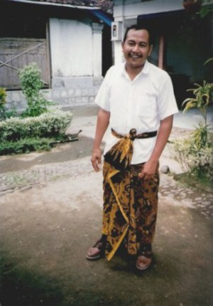 Correctly tied sarong for Balinese man