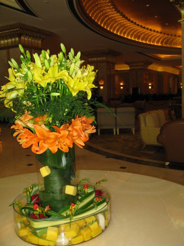 Creative flower arrangement Emirates Palace Hotel Abu Dhabi