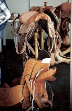 Cuban stock saddle display – Agricultural Fair – Havana