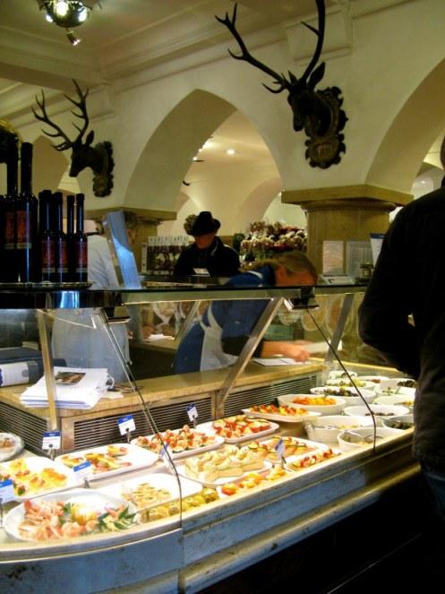 Delicatessen of  Dallmayr store Munich