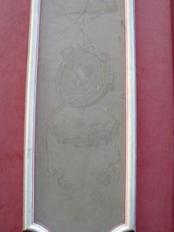 Details of artistic entrance decoration Bloomsbury London