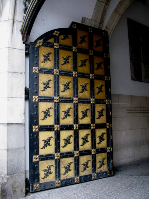 Doors of the New Town Hall Marienplatz Munich